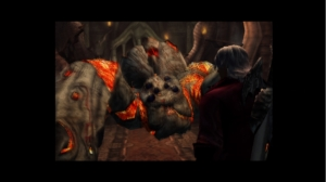 Devil May Cry HD Collection: Devil May Cry Comparison Screenshot (SD)