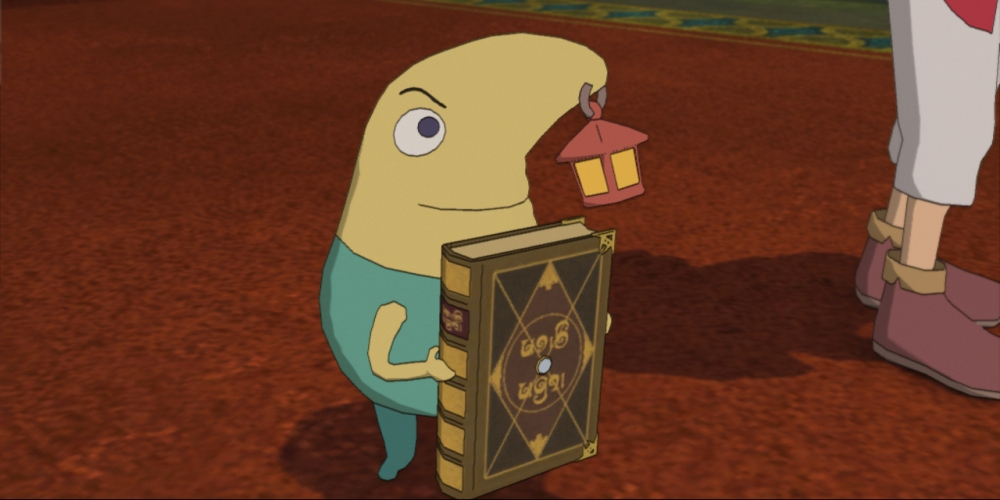 Ni No Kuni: Wrath of the White Witch - Drippy holding the Wizard's Companion