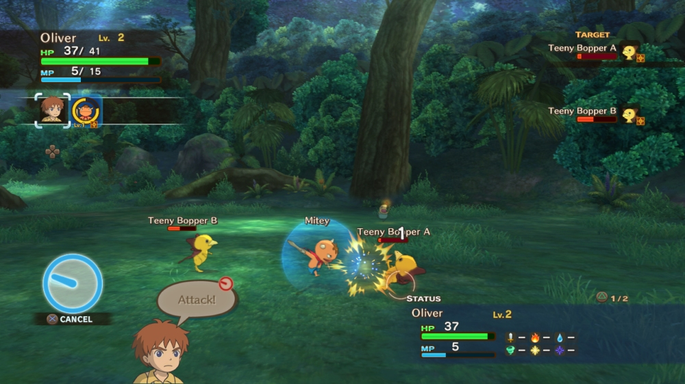 Ni no Kuni: Wrath of the White Witch - Combat