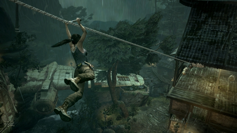 Tomb Raider - Ziplining to freedom