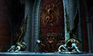 Castlevania: Lords of Shadow - Alucard infront of some huge doors