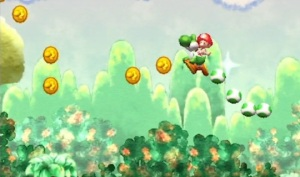 Nintendo Direct - Yoshi Flutter Jump