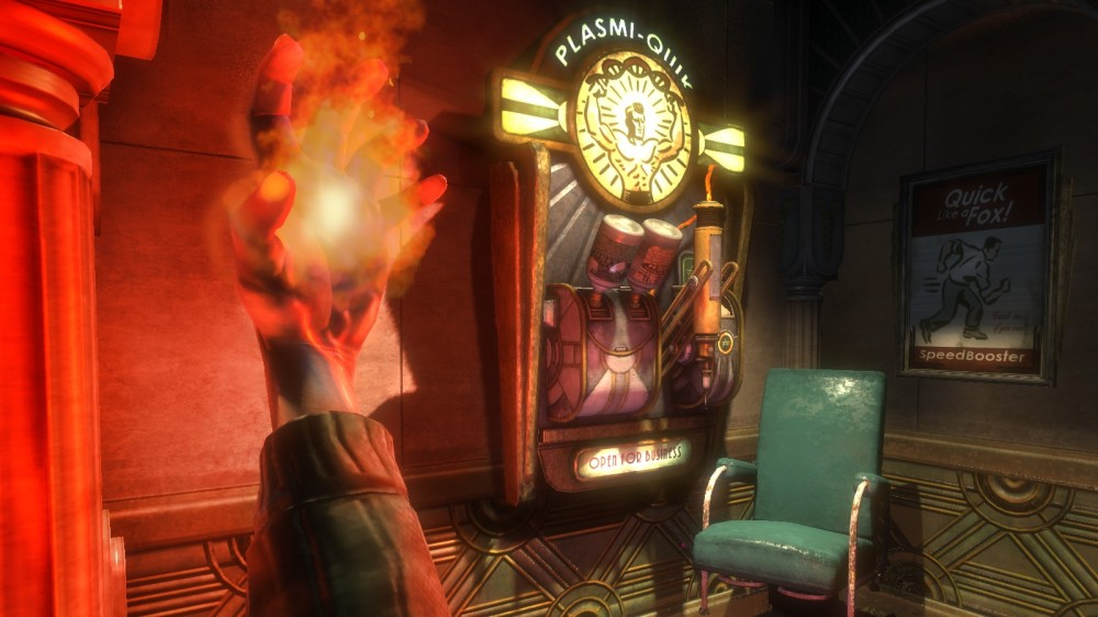 In the original Bioshock, Plasmids were justified seamlessly in the story. Vigors? Not so much. At all.