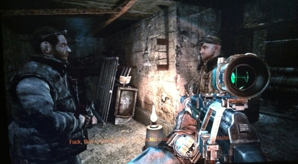 See these guys? They're dead. Shot 'em both in the head. Yet here they are standing up. Gotta love video games.