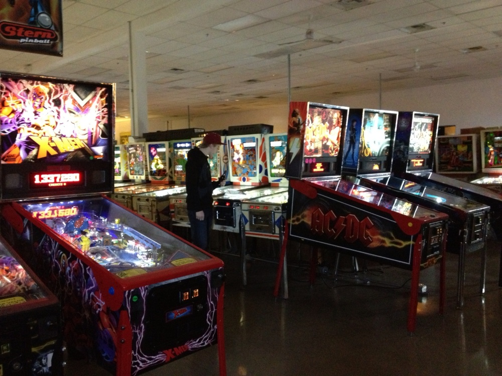 Pinball Hall of Fame: A few of the games they have up front
