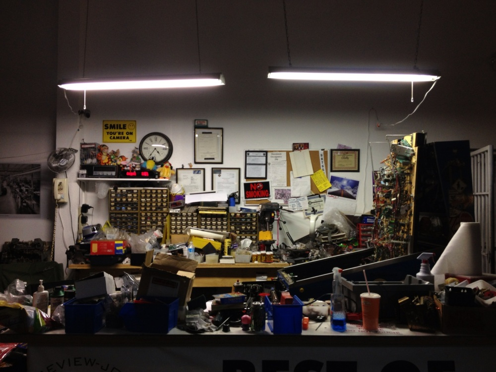 Pinball Hall of Fame: The workbench