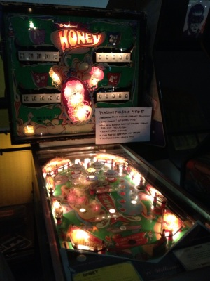 "Pinball Hall of Fame: ""Honey"", the pinball machine in question"