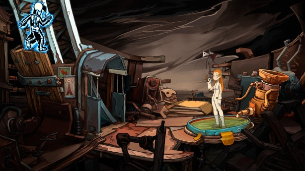Chaos on Deponia Review - Baby Goal