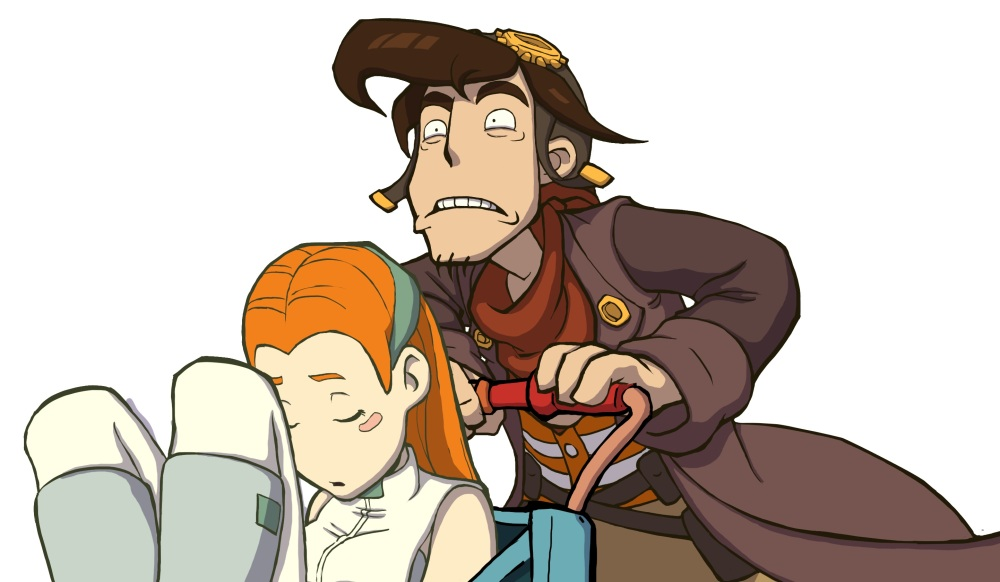 Deponia Review - Rufus and Goal