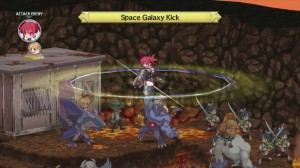 Disgaea D2: A Brighter Darkness - Mounted Attack, Space Galaxy Kick