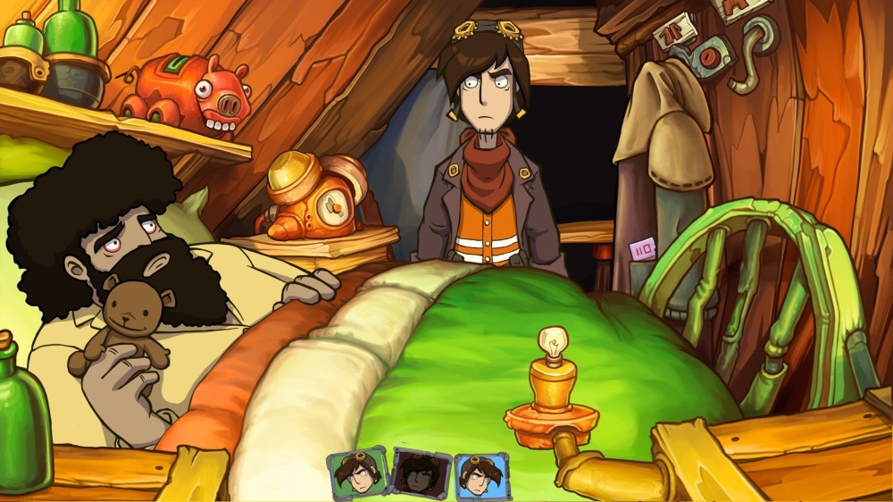 Goodbye Deponia Review - Bozo in Bed