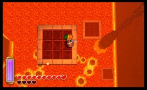 The Legend of Zelda: A Link Between Worlds Review - Lava