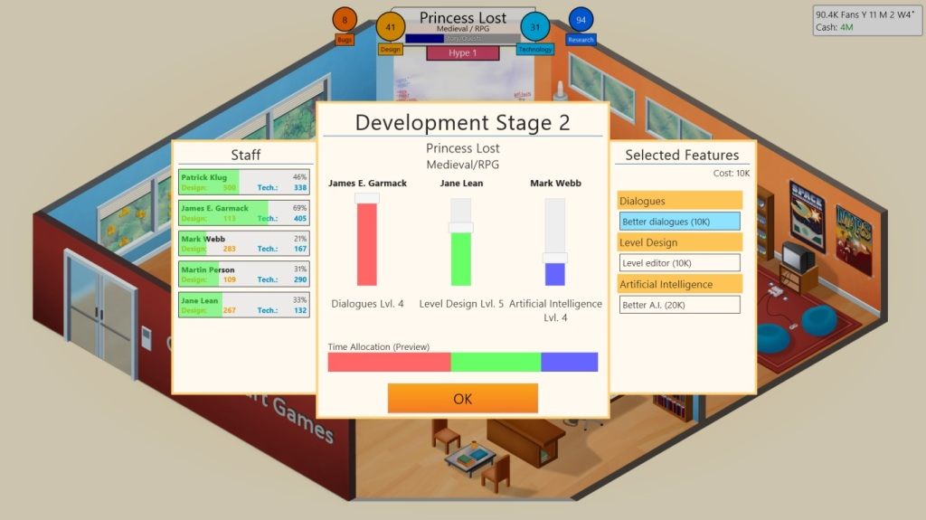Game Dev Tycoon Review - Game Development