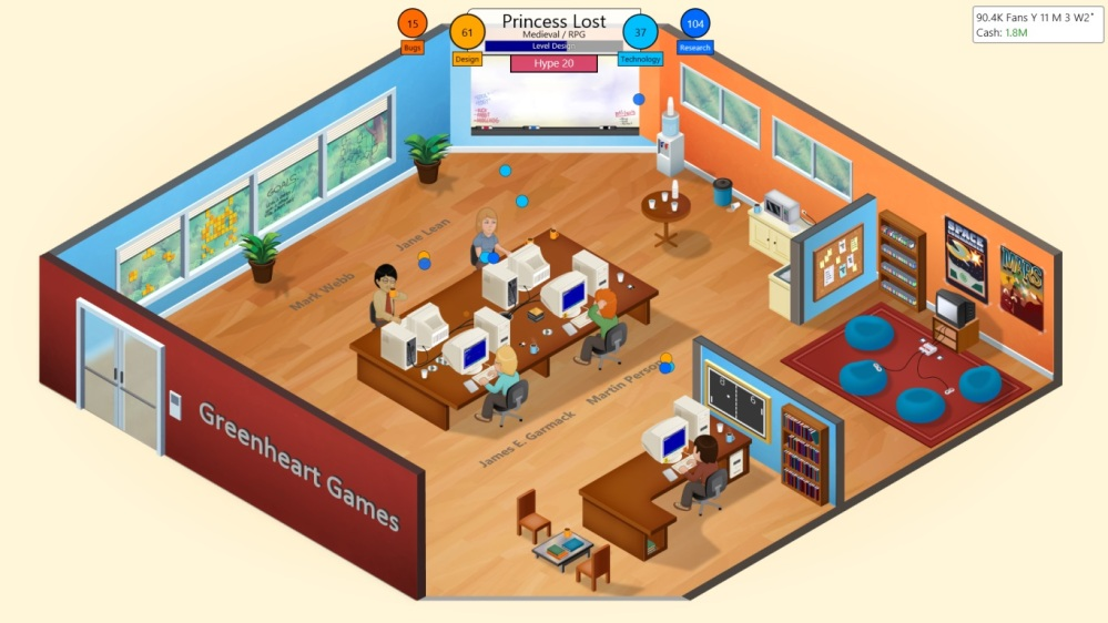 Game Dev Tycoon Review - Office