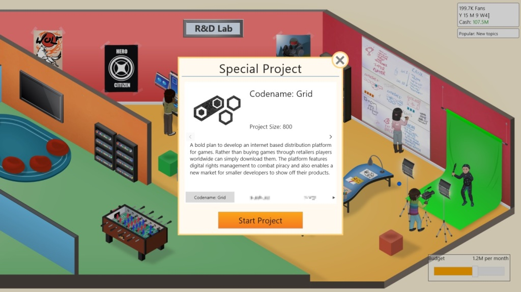 Game Dev Tycoon Review - Research and Development Laboratory