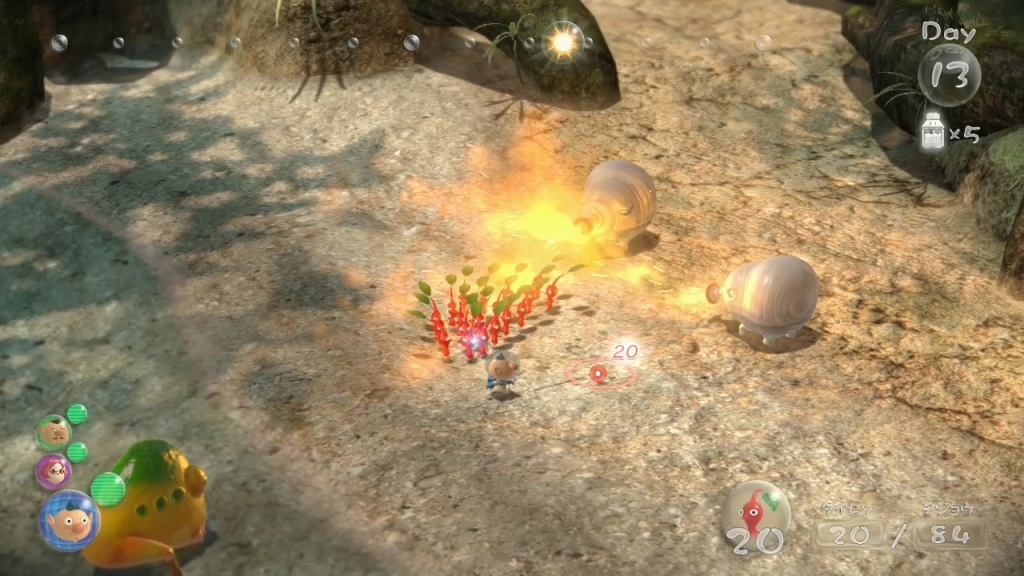 Pikmin 3 Review - Red Pikmin at Nightfall