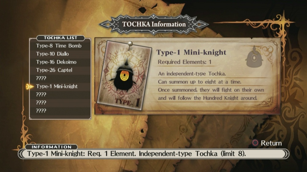 The Witch and the Hundred Knight Review - Tochka Mini-Knight