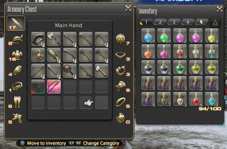Final Fantasy XIV: A Realm Reborn - Inventory
