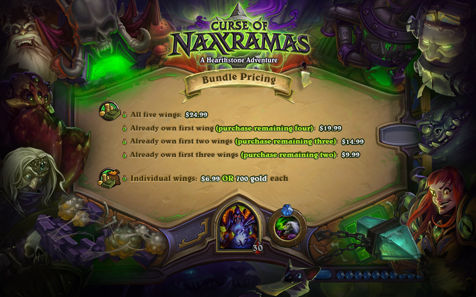 Hearthstone: Curse of Nassramas Pricing