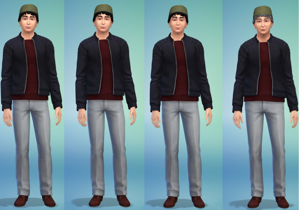 The Sims 4 - Beardless Aging Maximus Lambert