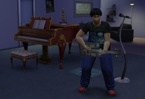 The Sims 4 - Playing Guitar