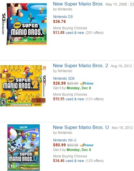 Nintendo games are too expensive - Expensive Mario Games
