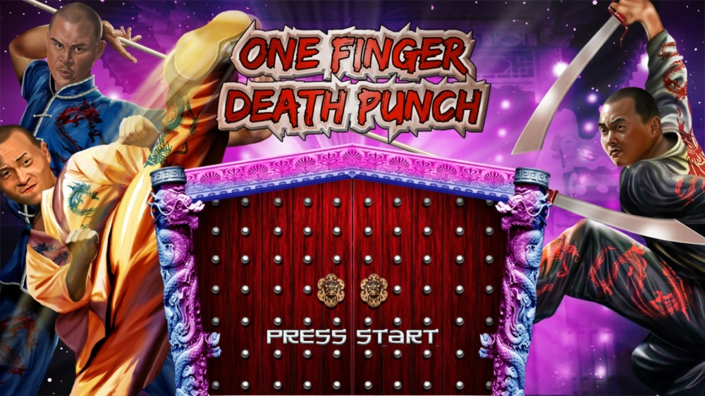 One Finger Death Punch Review - Title Screen